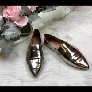 [Madewell] The Leandra Loafer in Metallic 6M EUC